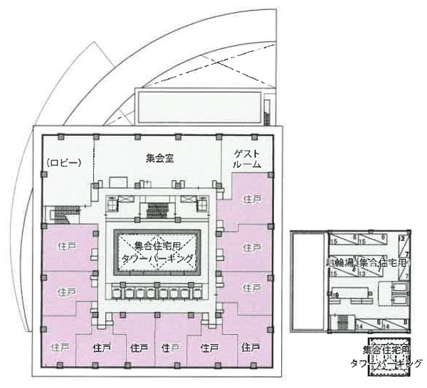 もと淀川区役所跡地等活用事業 4階平面図