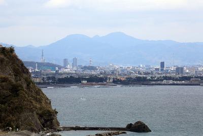 焼津から見た静岡方面