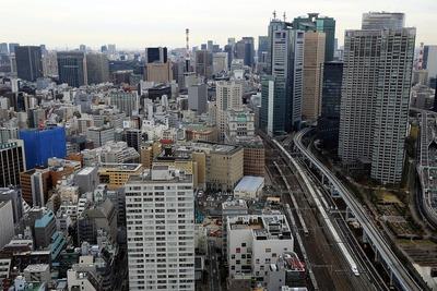 世界貿易センタービルから新橋方面の眺め