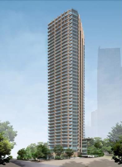 赤坂九丁目北地区第一種市街地再開発事業の完成予想図