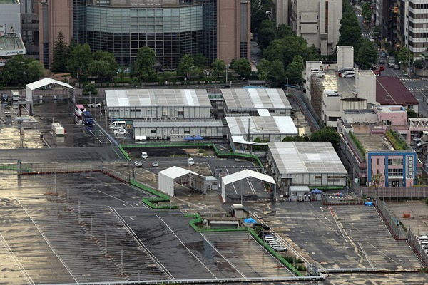 ドゥ・トゥールの高層階から見た築地市場跡地