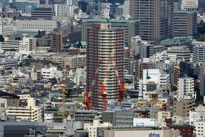 東京都庁から見た富久クロス(Tomihisa Cross) コンフォートタワー
