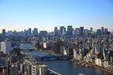 アサヒビールタワーから東京駅方面
