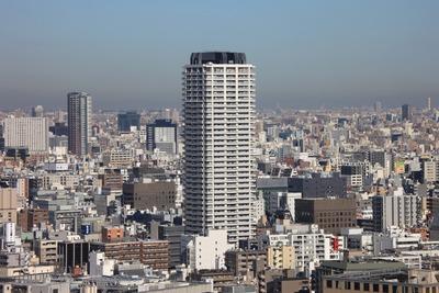 リバーシティ21新川から見たリガーレ日本橋人形町