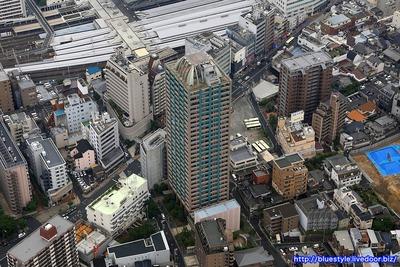 セントラルレジデンス天王寺シティタワーの空撮