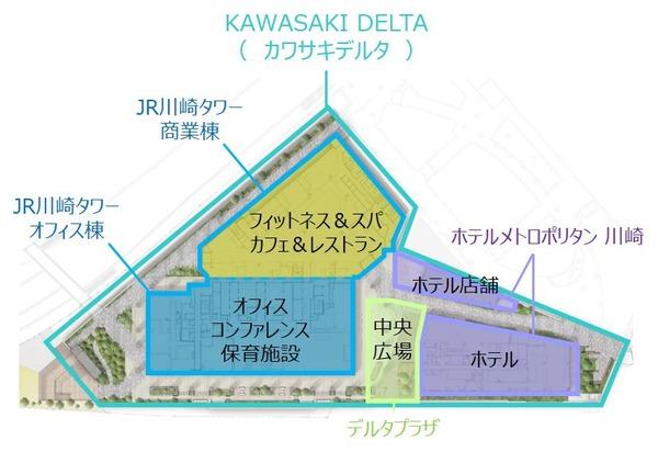KAWASAKI DELTA 街区構成 平面図
