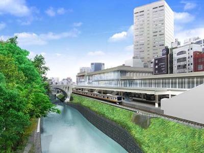 御茶ノ水駅の改良工事の完成予想図
