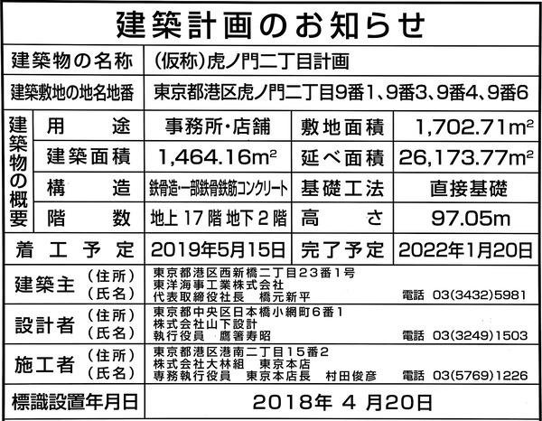 (仮称)虎ノ門二丁目計画 建築計画のお知らせ