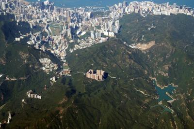 陽明山荘(ParkView)とその周辺の空撮