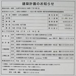 (仮称)札幌創世1.1.1区北1西1地区第一種市街地再開発事業