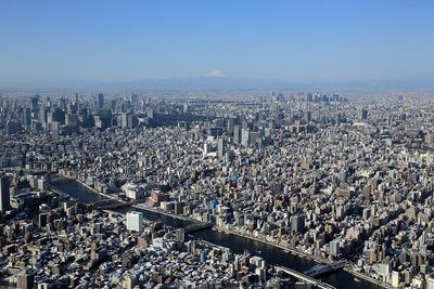 東京スカイツリーから富士山方面の眺め