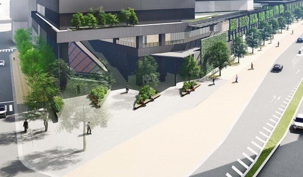 南池袋二丁目C地区第一種市街地再開発事業 北側広場のイメージ