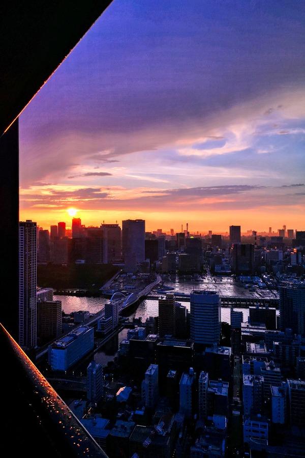 ドゥ・トゥールの高層階からの夕焼け