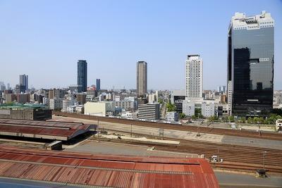 グランフロント大阪 南館タワーAからの眺め