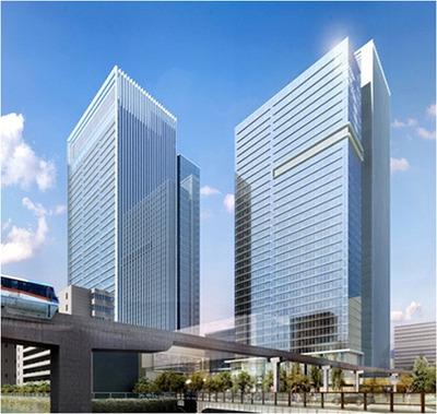 (仮称)TGMM芝浦プロジェクトの完成予想図