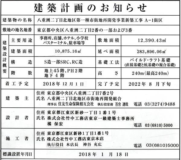 東京ミッドタウン八重洲 建築計画のお知らせ