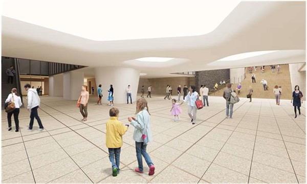 虎ノ門一丁目東地区第一種市街地再開発事業 地下駅前広場のイメージ