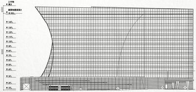 都市景観形成行為のお知らせ 立面図(北側)