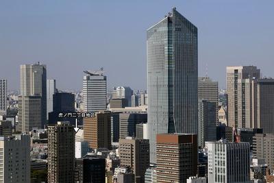 世界貿易センタービルから見た虎ノ門方面