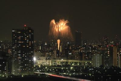 亀戸中央公園花火