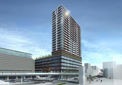 (仮称)小倉駅南口東地区第一種市街地再開発事業ビル 完成予想図