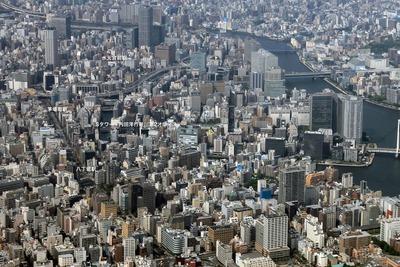 八丁堀・新川・茅場町方面の空撮