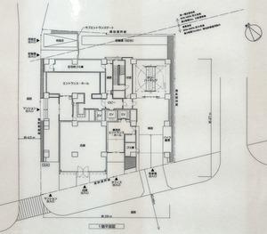 (仮称)千代田区麹町6-4計画の配置図