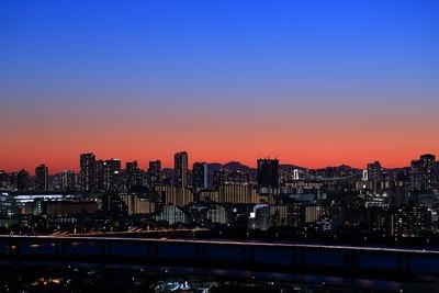 東雲・豊洲方面の夕景