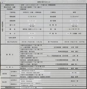 (仮称)よみうり文化センター(千里中央)再整備計画 建築計画