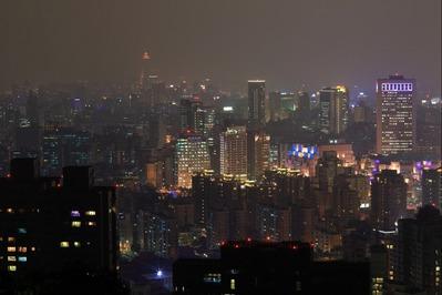 象山から台北101周辺の夜景