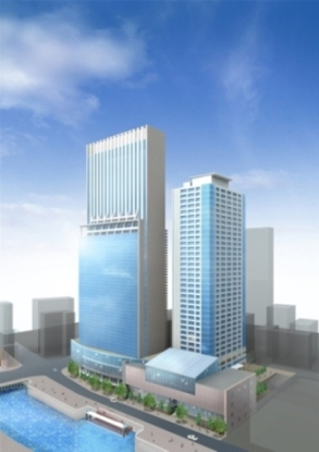 納屋橋東地区再開発の過去の完成予想図