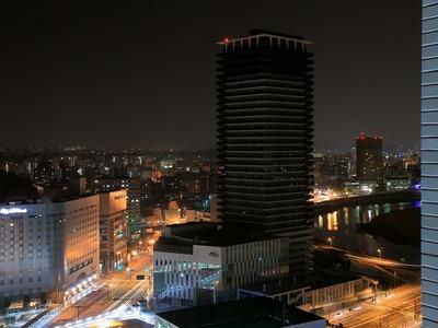 東横イン熊本駅前からザ・熊本タワー方面の夜景