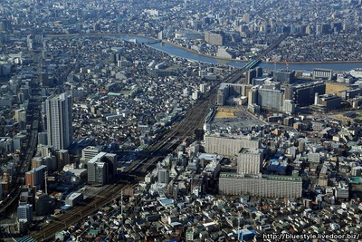 金町駅周辺の空撮