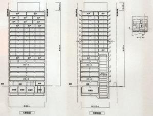 (仮称)千代田区麹町6-4計画の断面図