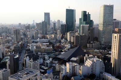 東京タワーから見た虎ノ門・麻布台地区
