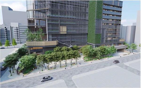 虎ノ門一丁目東地区第一種市街地再開発事業 広場のイメージ