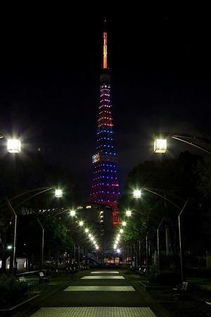 五輪招致バージョンの東京タワー