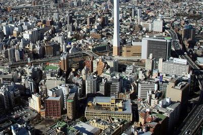 サンシャイン60から見た豊島区本庁舎方面