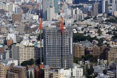 恵比寿ガーデンプレイスから見たグランドメゾン白金の杜 ザ・タワー