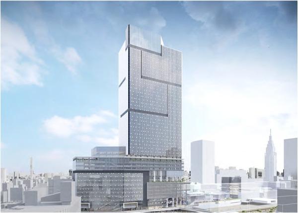 (仮称)新宿駅西口地区開発事業 将来完成予想図