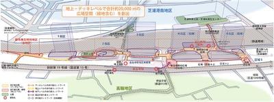 品川駅北周辺地区 歩行者ネットワークと広場