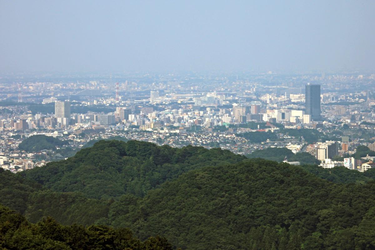 高尾山と稲荷山から八王子を眺める : 超高層マンション・超 ...