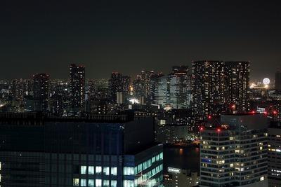 世界貿易センタービルから晴海・勝どき方面の夜景