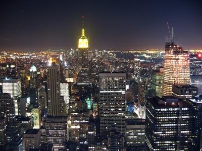 TOP OF THE ROCKから見るニューヨークの夜景