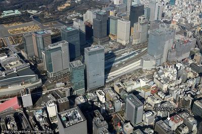東京駅周辺の超高層ビル群とTODAビルディング