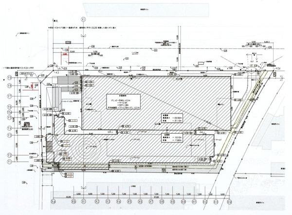 横濱ゲートタワー 都市景観形成行為のお知らせ 配置図