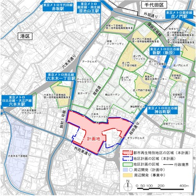 虎ノ門・麻布台地区 位置図