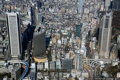 西新宿三丁目西地区の空撮