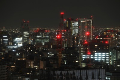 赤プリから東京ドーム方面の夜景