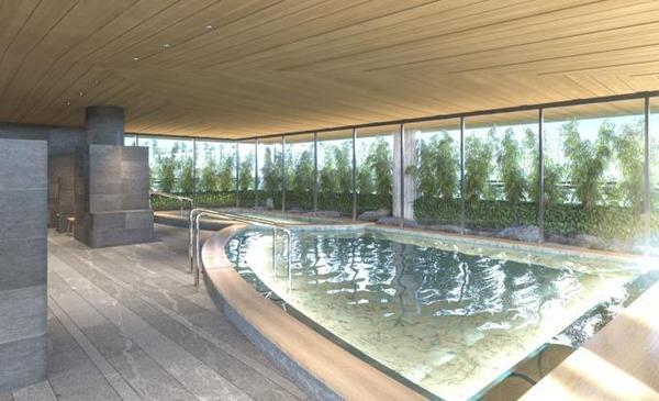 パークウェルステイト西麻布 大浴場完成予想イメージ
